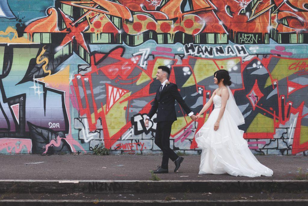 Jodi and Jade wedding photography Dublin Wexford graffiti