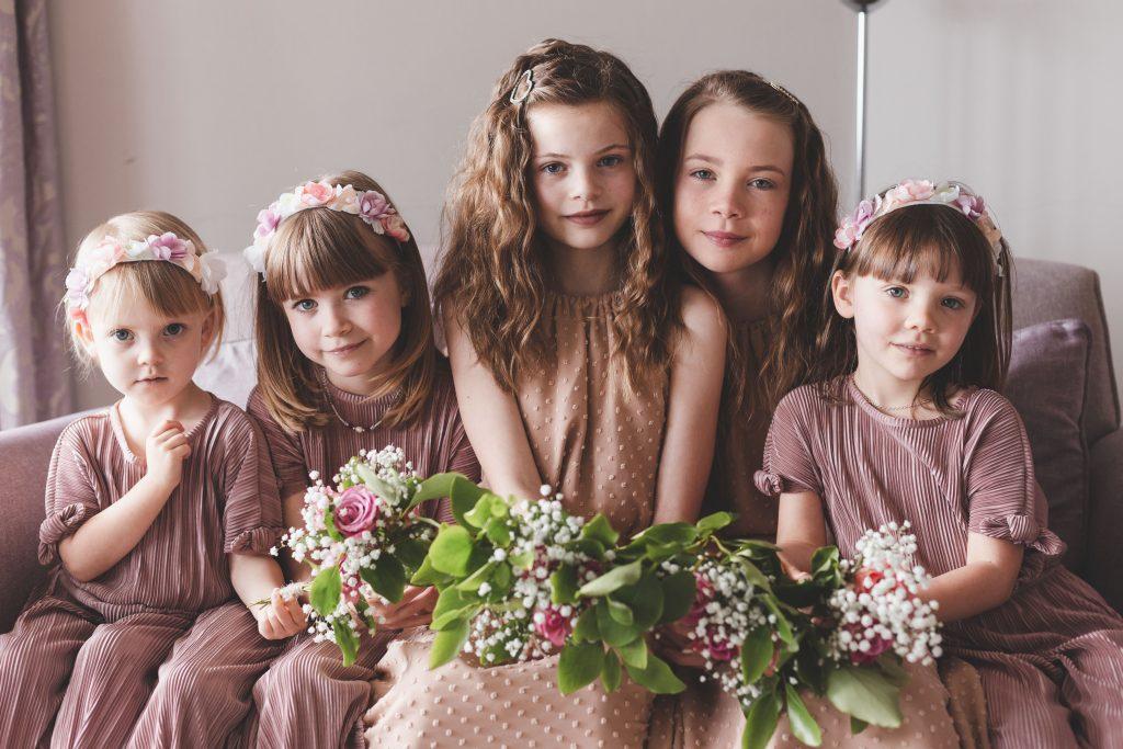 Jodi and Jade wedding photography Dublin Wexford flower girls