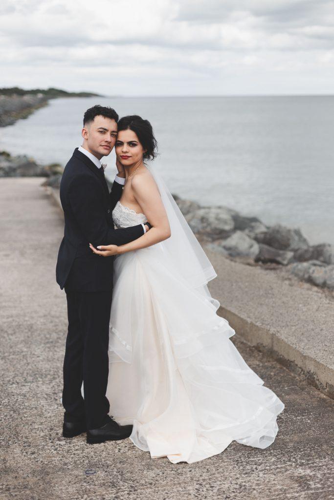 Jodi and Jade beach wedding photography Dublin Wexford