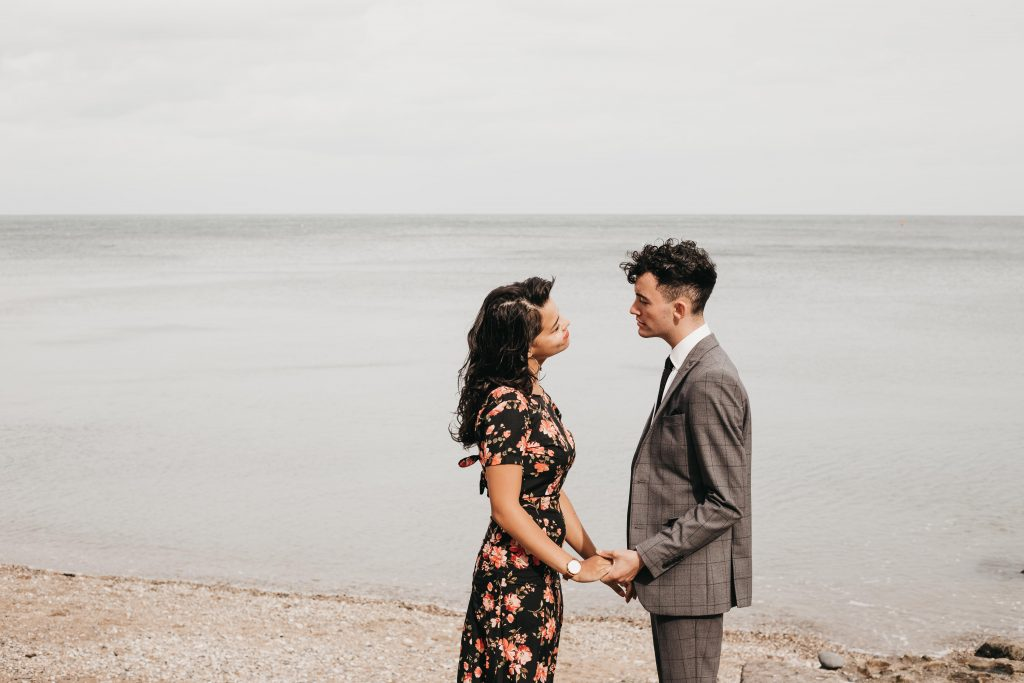 Jodi + Jade Howth engagement shoot vintage outfit