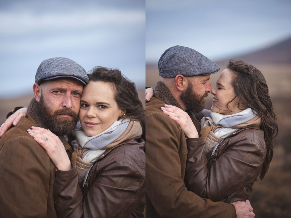 Marli + Andre wicklow mountains engagement shoot couple