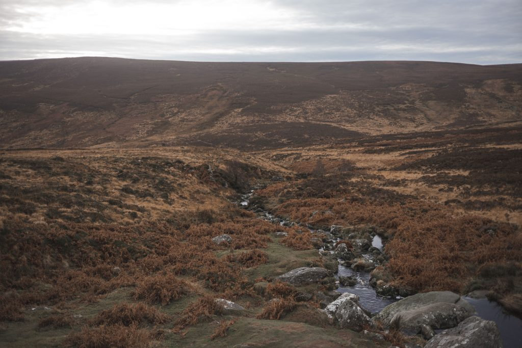wicklow mountains landscape on a cloudy day