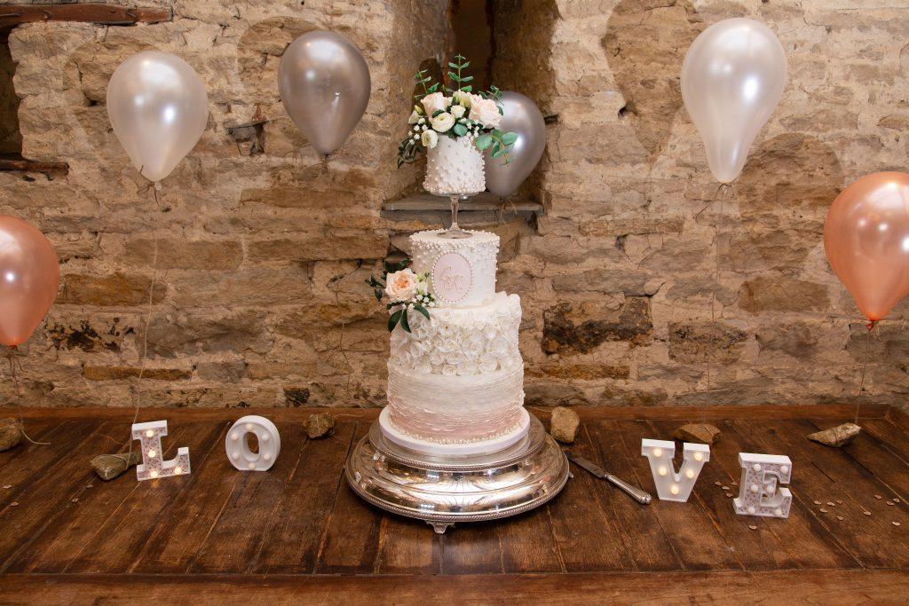 Luke + Kate Wedding Cake