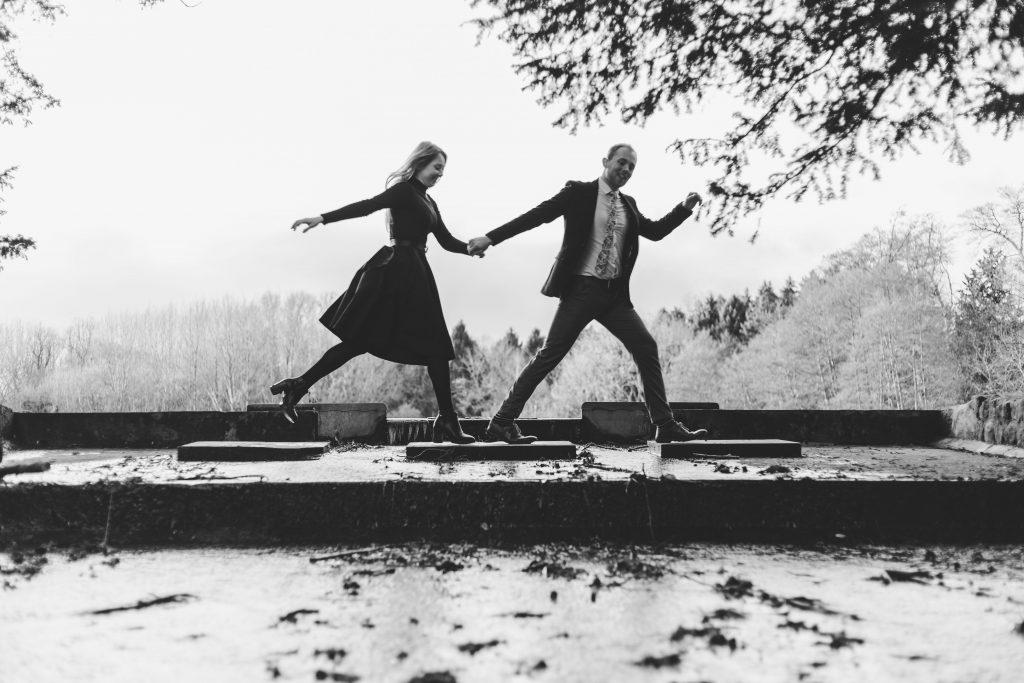 Luke and Kate couples shoot beatles recreation image