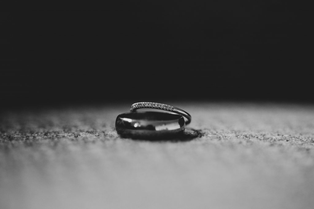 Jack and Katie Antrim elopement simple wedding bands