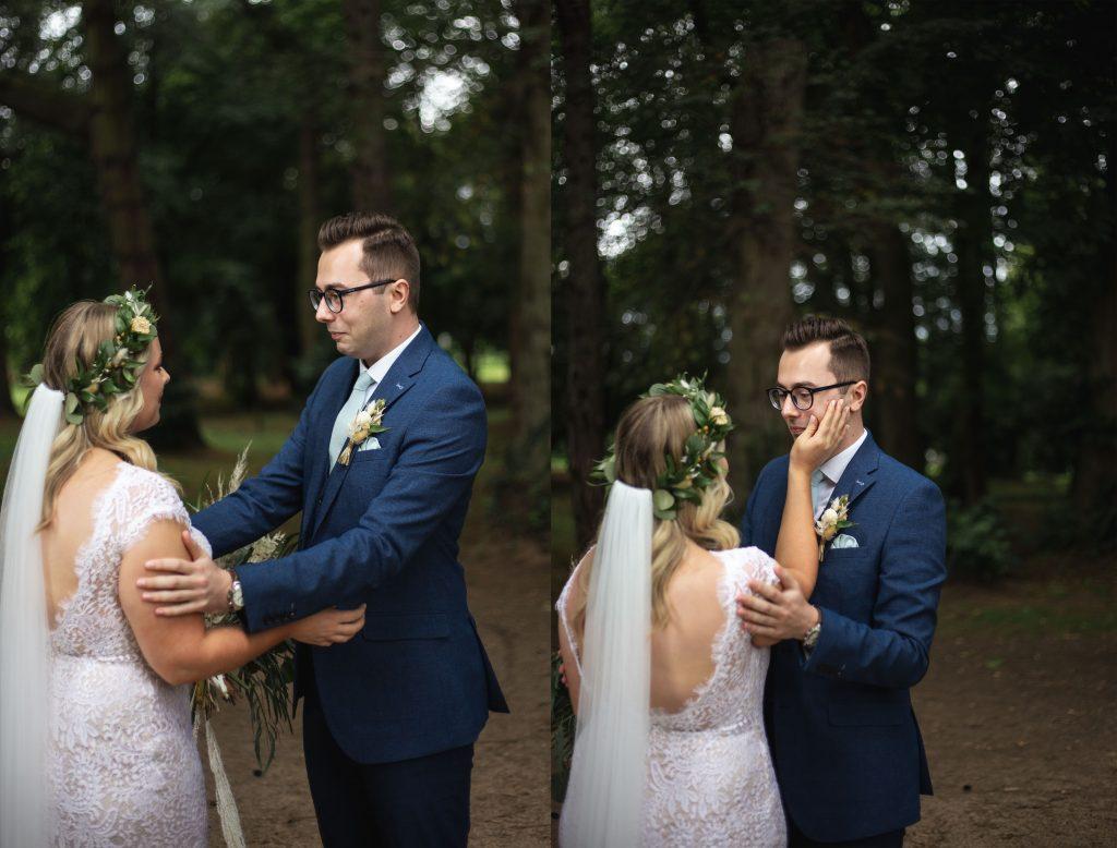 Jack and Katie Antrim Castle gardens elopement first look