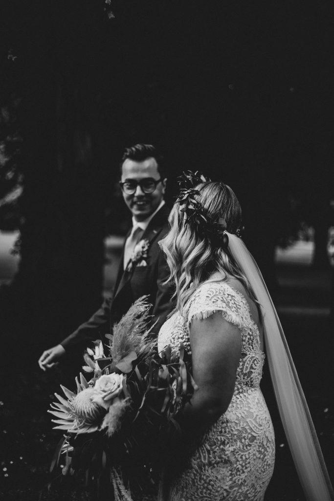 Jack and Katie Antrim Castle gardens elopement