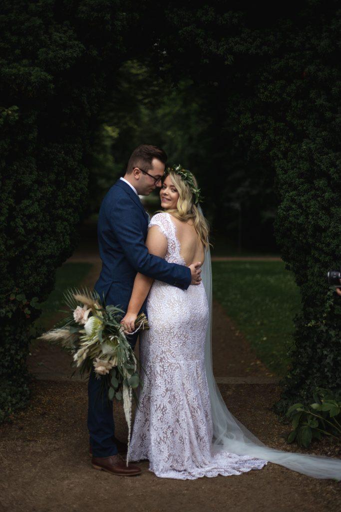 Jack and Katie Antrim Castle gardens elopement couples portraits
