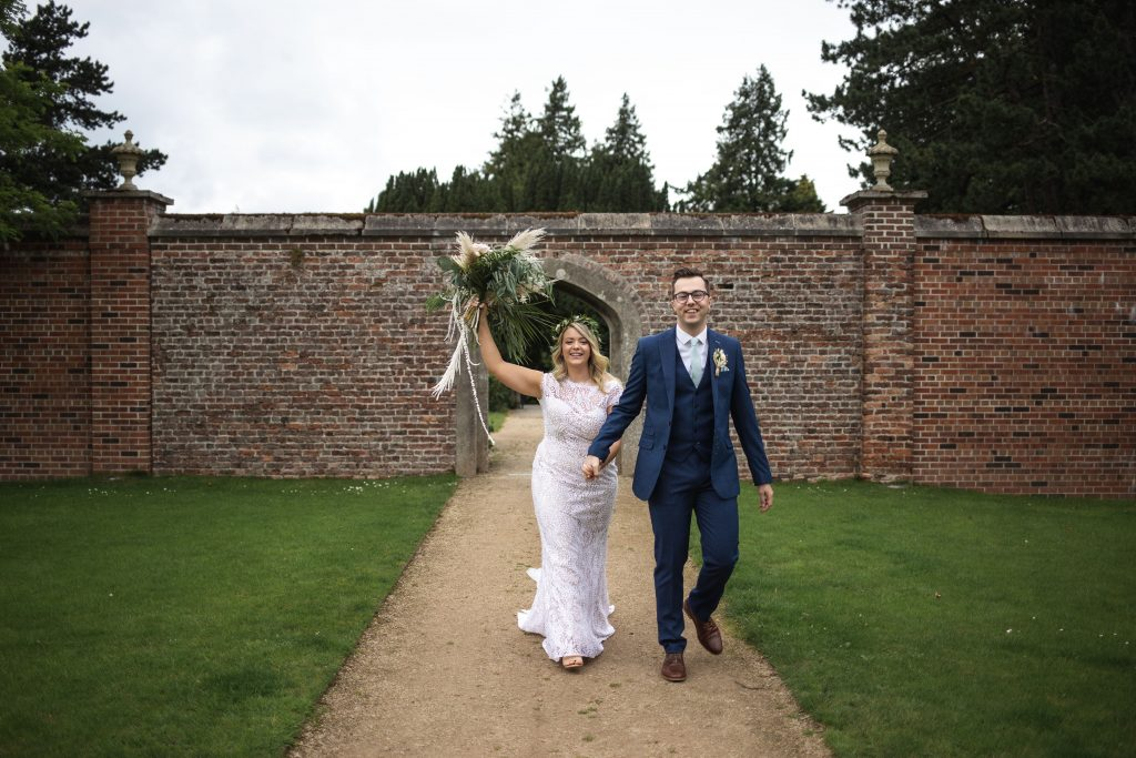 Jack and Katie Antrim Castle gardens elopement wedding photography beautiful bride