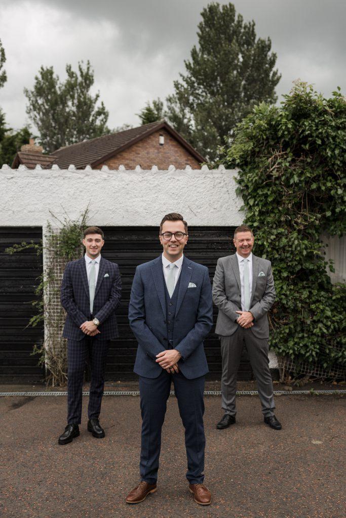 Jack and Katie Antrim elopement groom and groomsmen