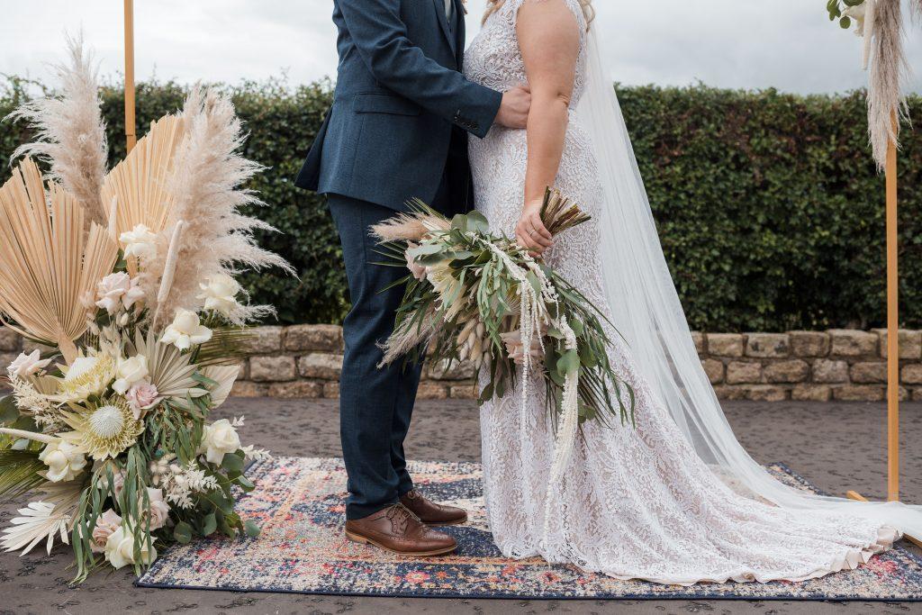 Jack and Katie Antrim Elopement covid zoom wedding photography below shoulder couples portrait
