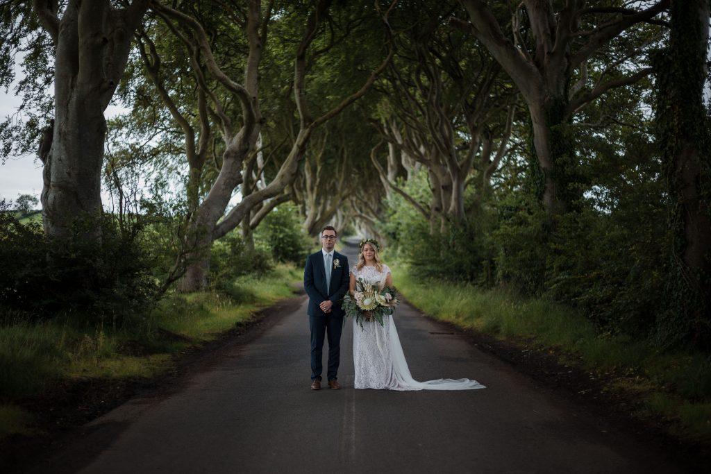 Jack and Katie Dark hedges Elopement wedding photography
