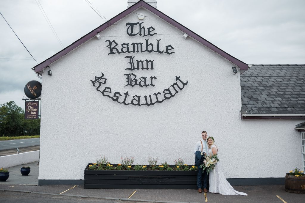 Jack and Katie the Ramble Inn Bar Restaurant Elopement wedding photography