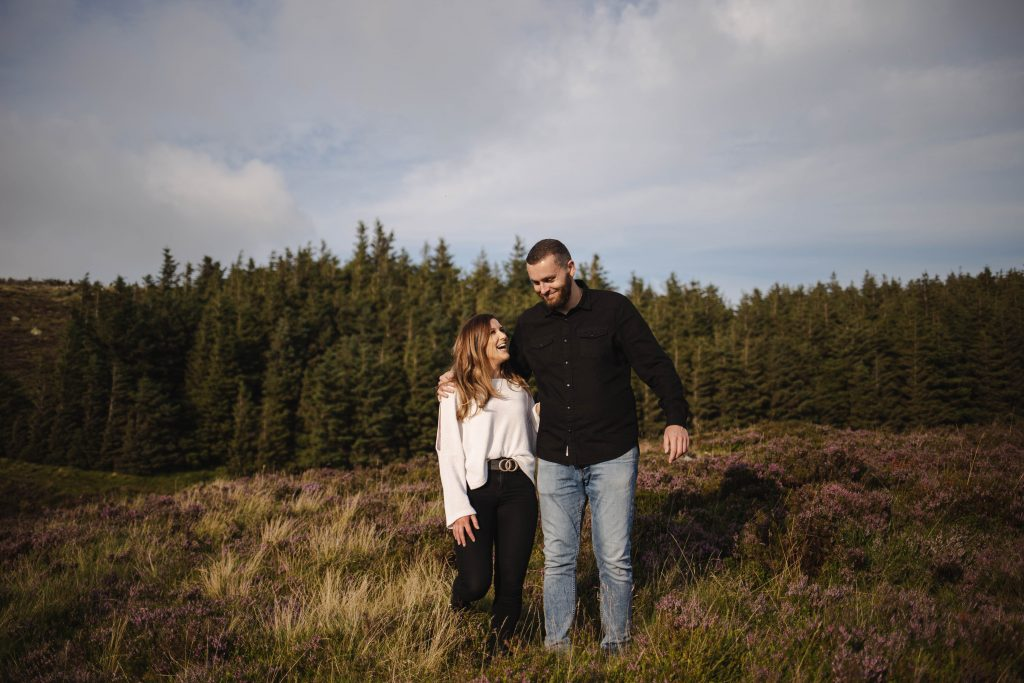 Anna and Colm couples photography in wicklow mountains
