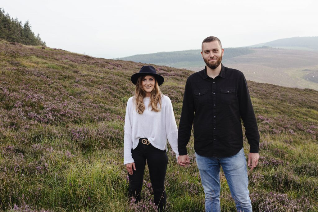 Anna and Colm Engagement Pictures in Wicklow mountains