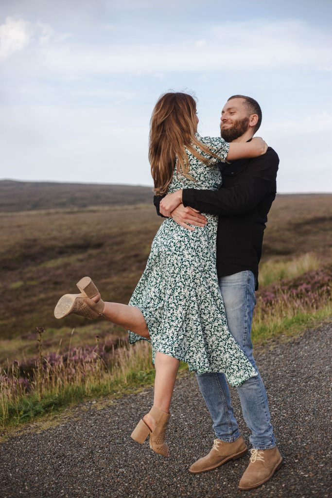 Anna and Colm engagement photography in wicklow mountains