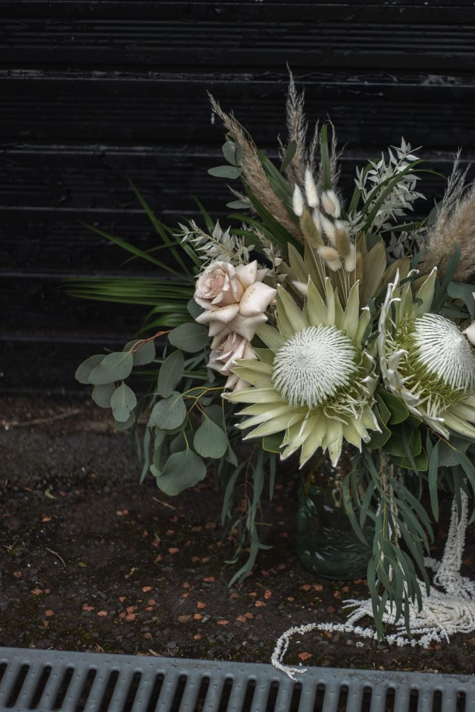 Jack and Katie Antrim elopement beautiful wedding bouquet