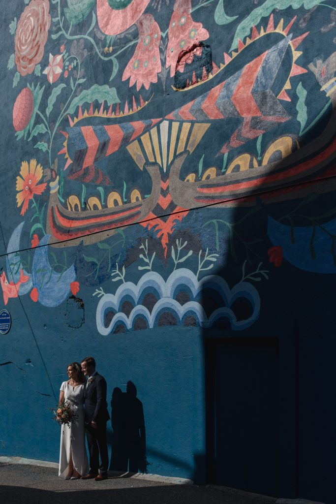 Gemma and Paddy New Ross wedding street art