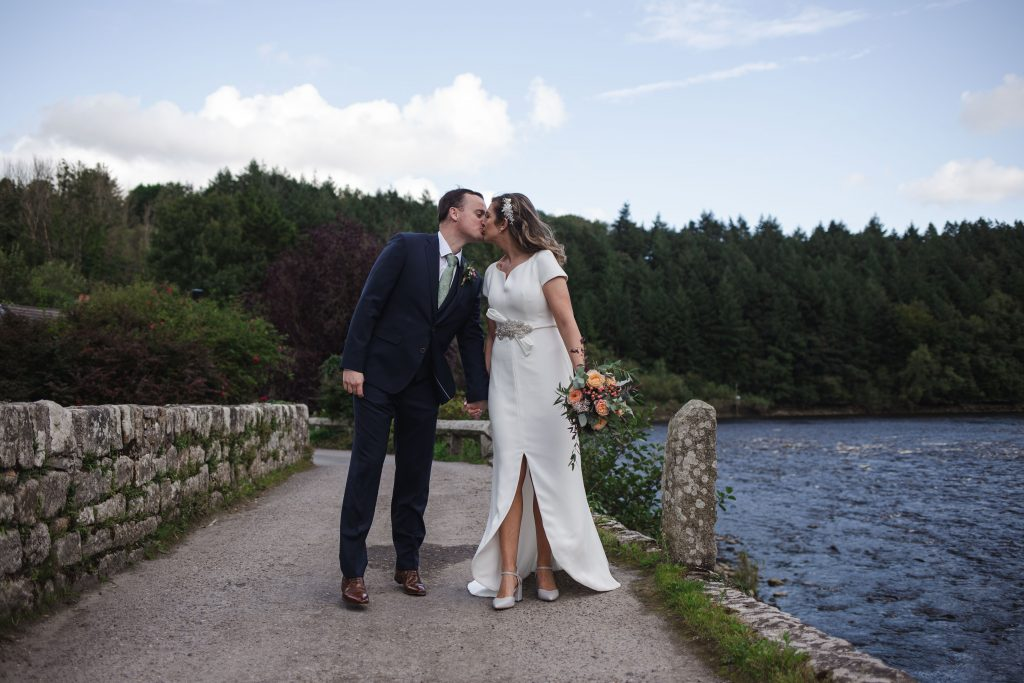 Gemma and Paddy New Ross wedding couple kissing