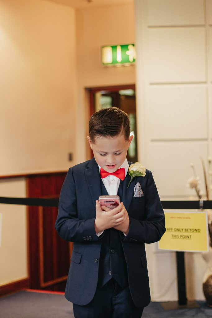 Troy and Laura Dublin City Wedding son reading a speech