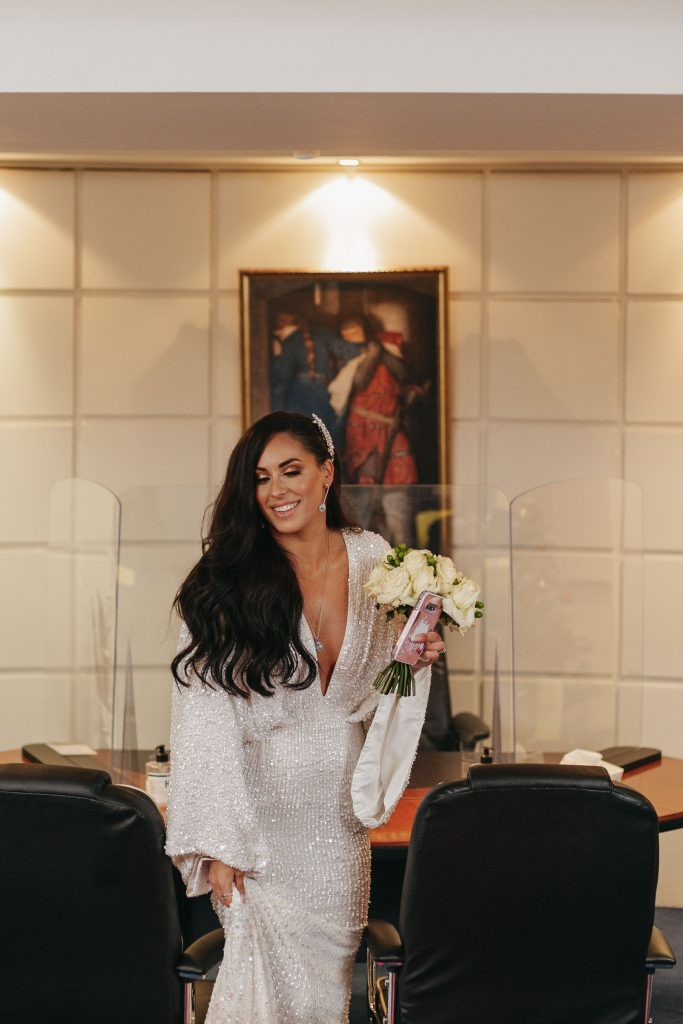 Troy and Laura Dublin City Wedding bride