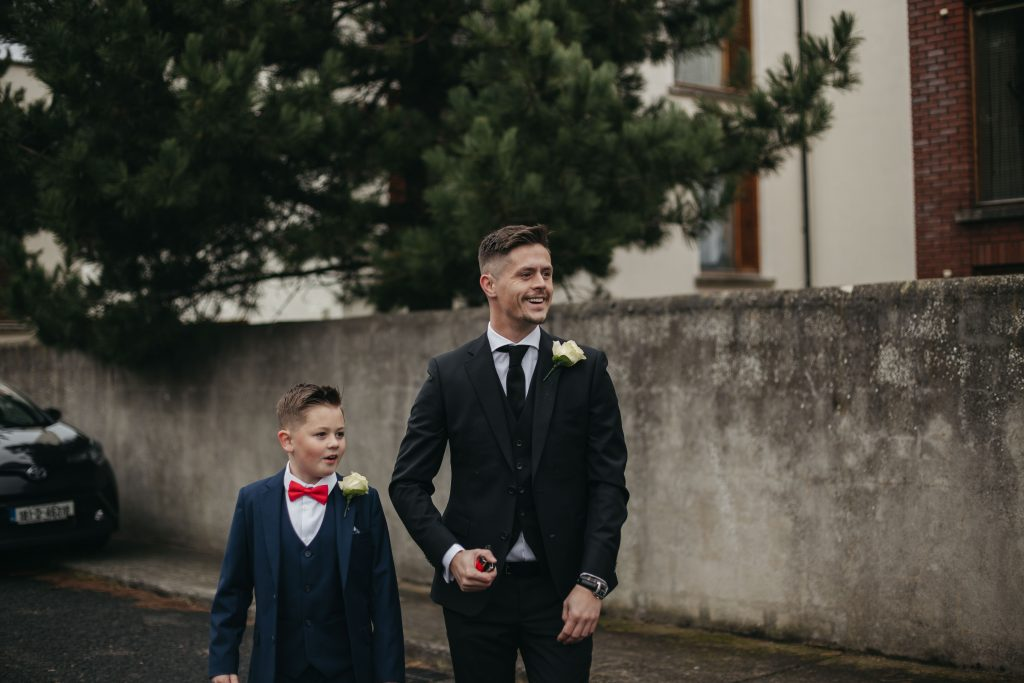 Troy and Laura Dublin City Wedding first look